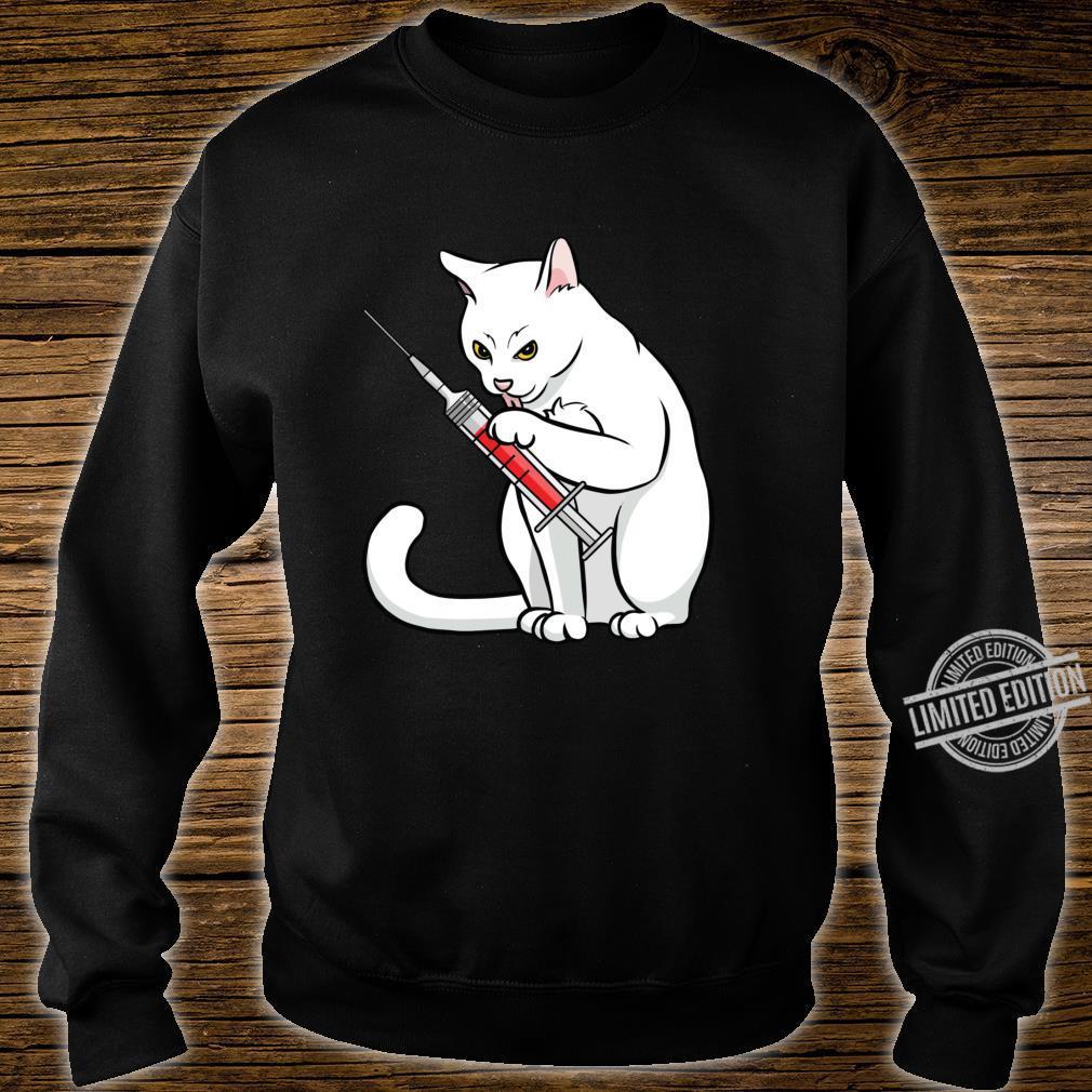 Funny Nurse Cat Shirt Cat Mom Cat Nurse Langarmshirt Shirt sweater