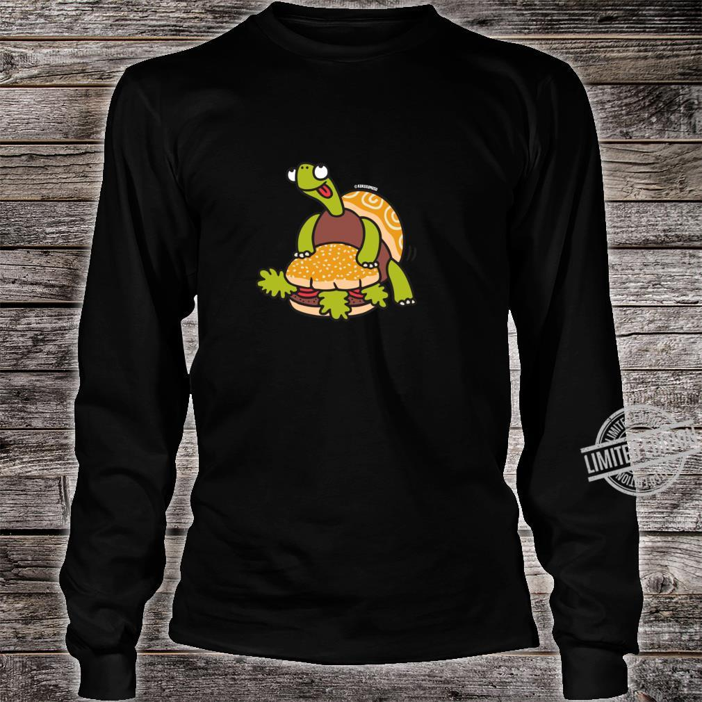 Funny Turtle Humping Burger Shirt long sleeved