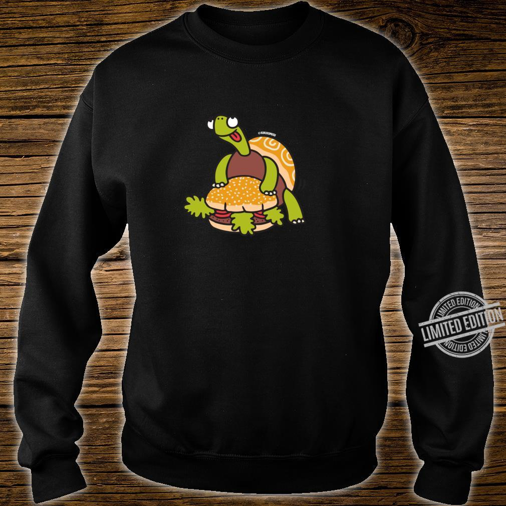 Funny Turtle Humping Burger Shirt sweater