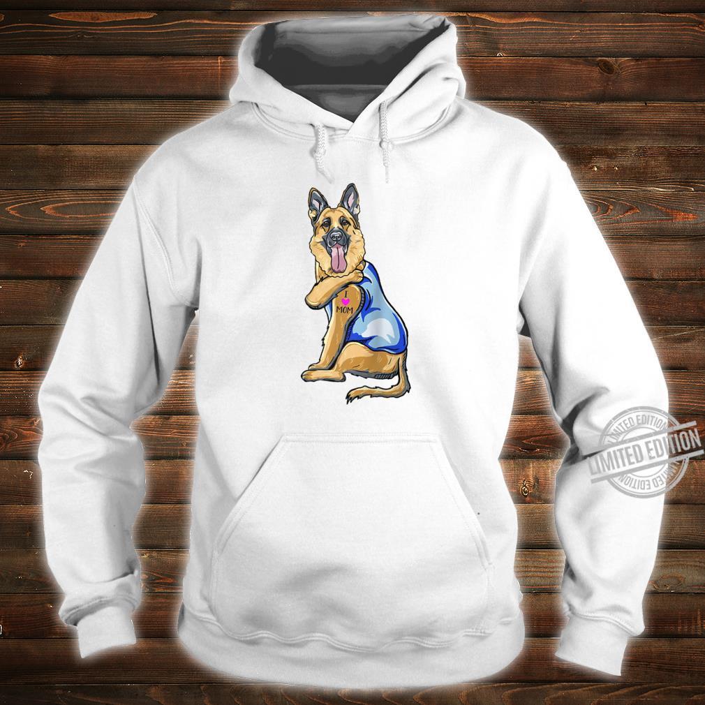 German Shepherd Dog Tattoo I Love Mom Shirt hoodie