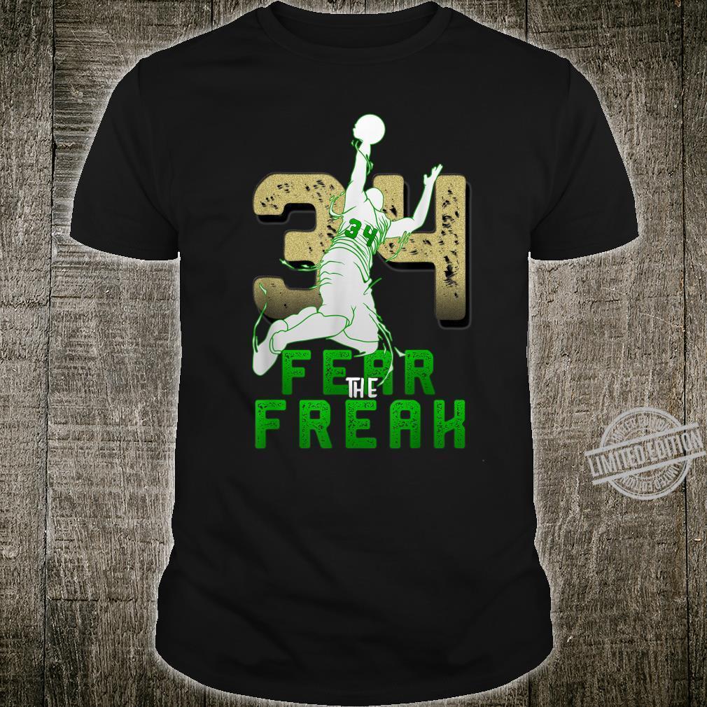 Gift For Milwaukee Basketball Bucks Fans 34 Fear the Freak Shirt