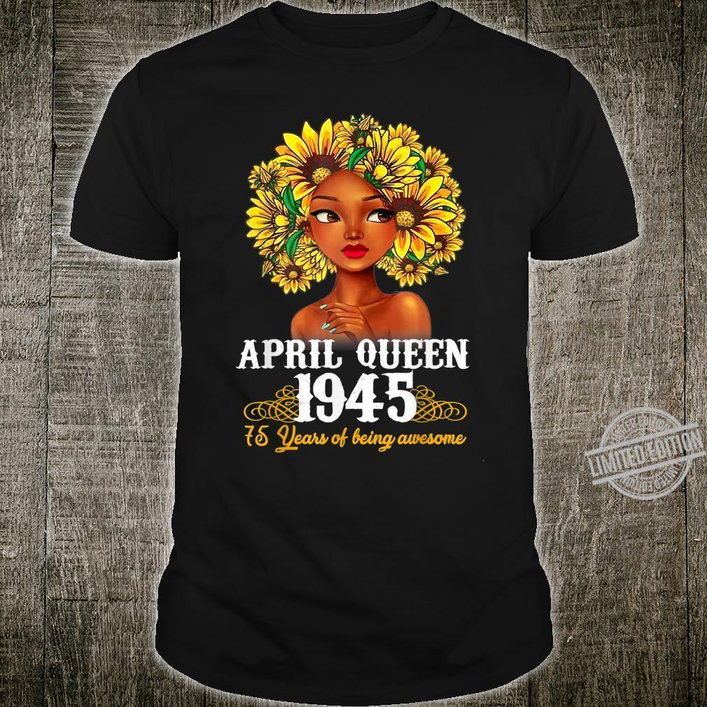 Girls Vintage April 1945 75th birthday 75 Years Old Shirt