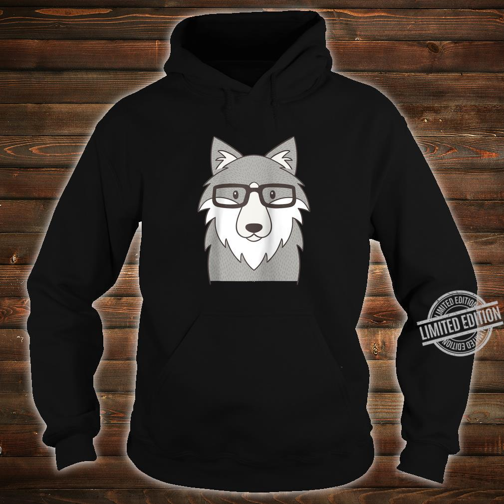 Hipster Wolf Glasses Shirt hoodie