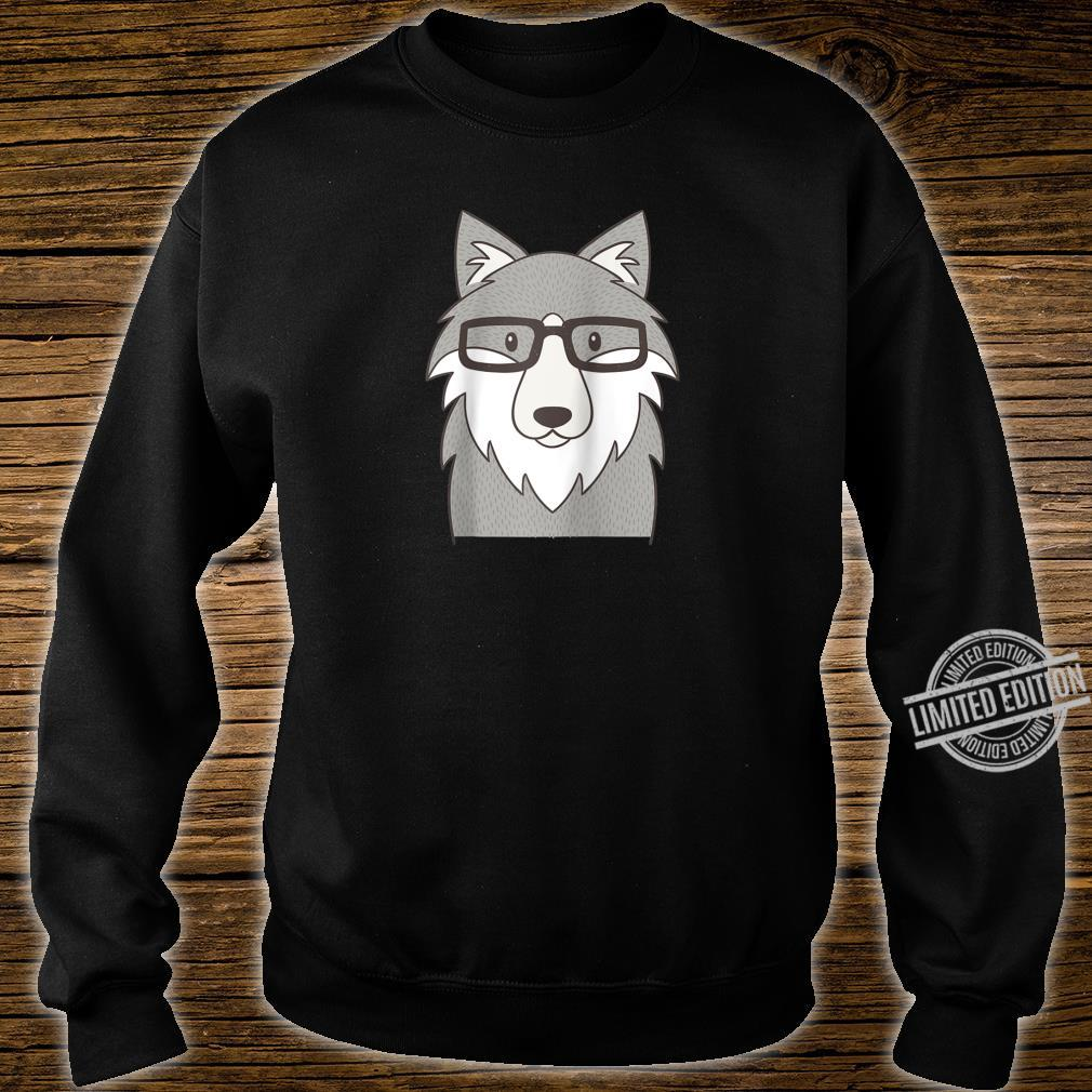 Hipster Wolf Glasses Shirt sweater