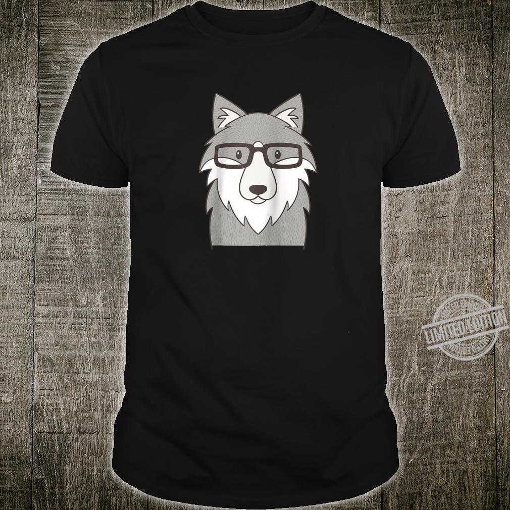 Hipster Wolf Glasses Shirt