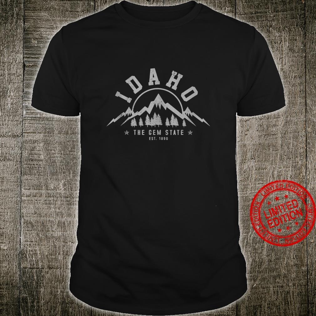 Idaho The Gem State Est. 1890 Vintage Mountains Shirt