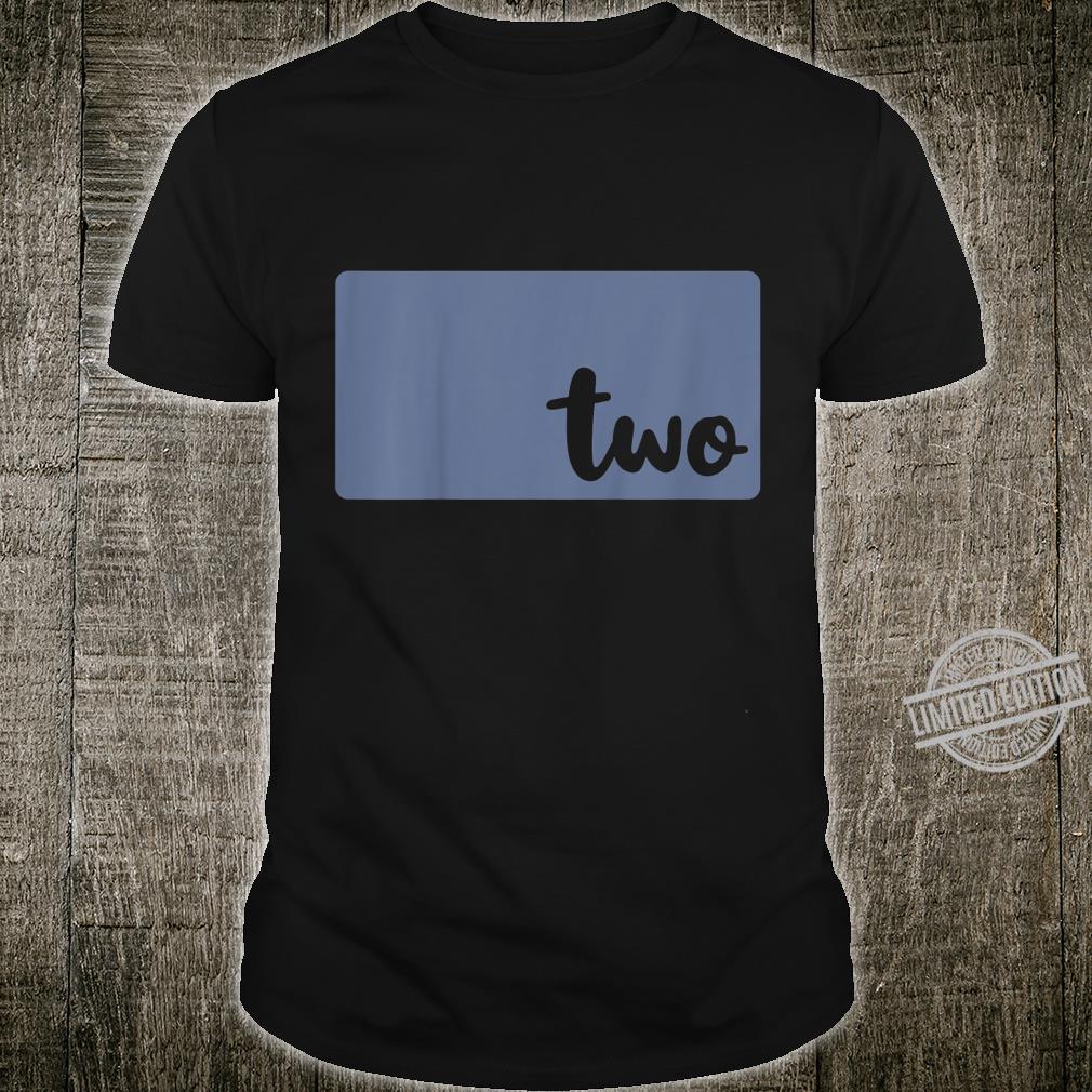 Kids 2nd Birthday Shirt Girl Birthday For 2 Year Old Boy TWO Shirt