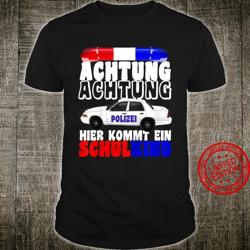 Kinder Einschulung Geschenk Junge Schulkind Polizei 1. Klasse Shirt