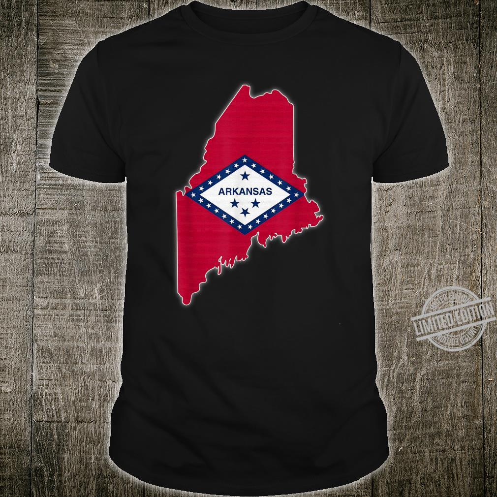 MAINE STATE MAP ARKANSAS AR Flag Roots Shirt