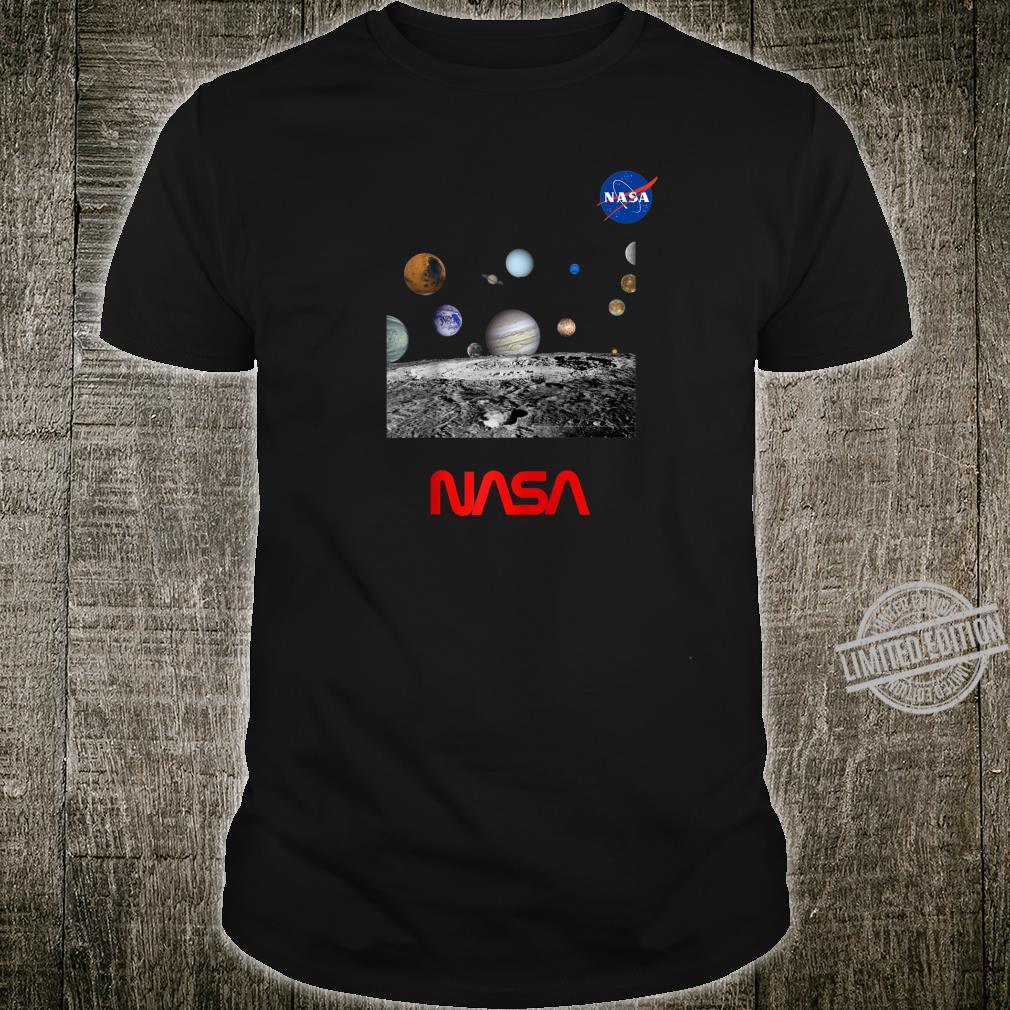 NASA Outer Space Solar System Drawing Blueprint Vintage Shirt
