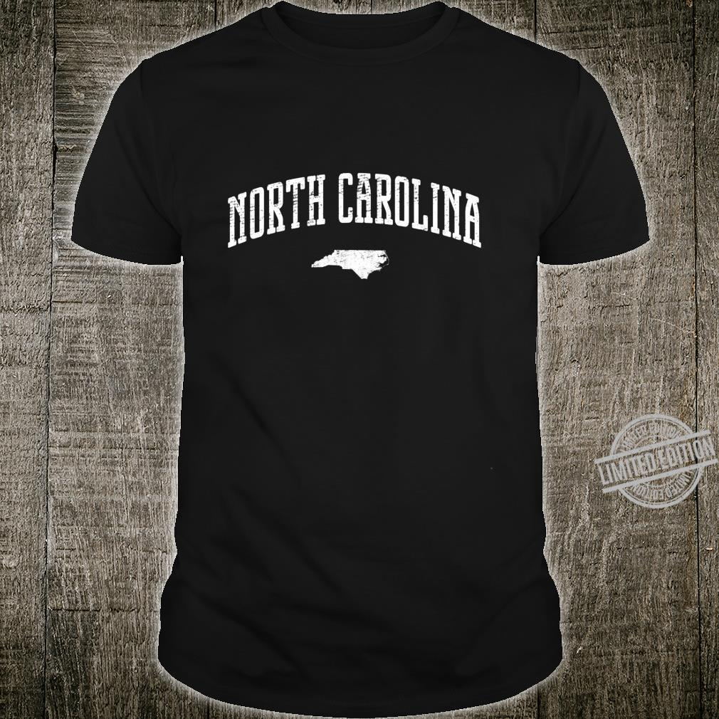 North Carolina Silhouette State Vintage Langarmshirt Shirt
