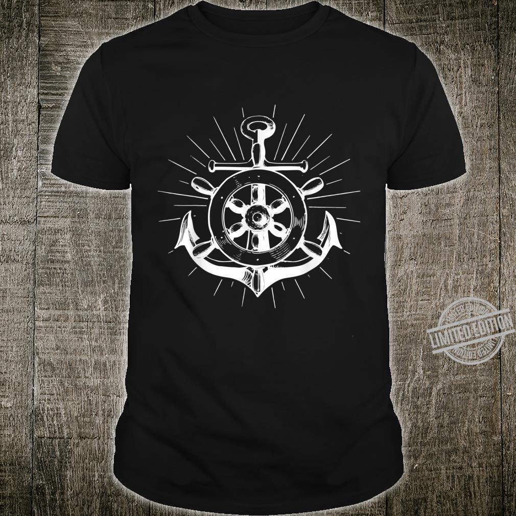 North anchor flat German saying shirt lighthouse seagull boat Shirt