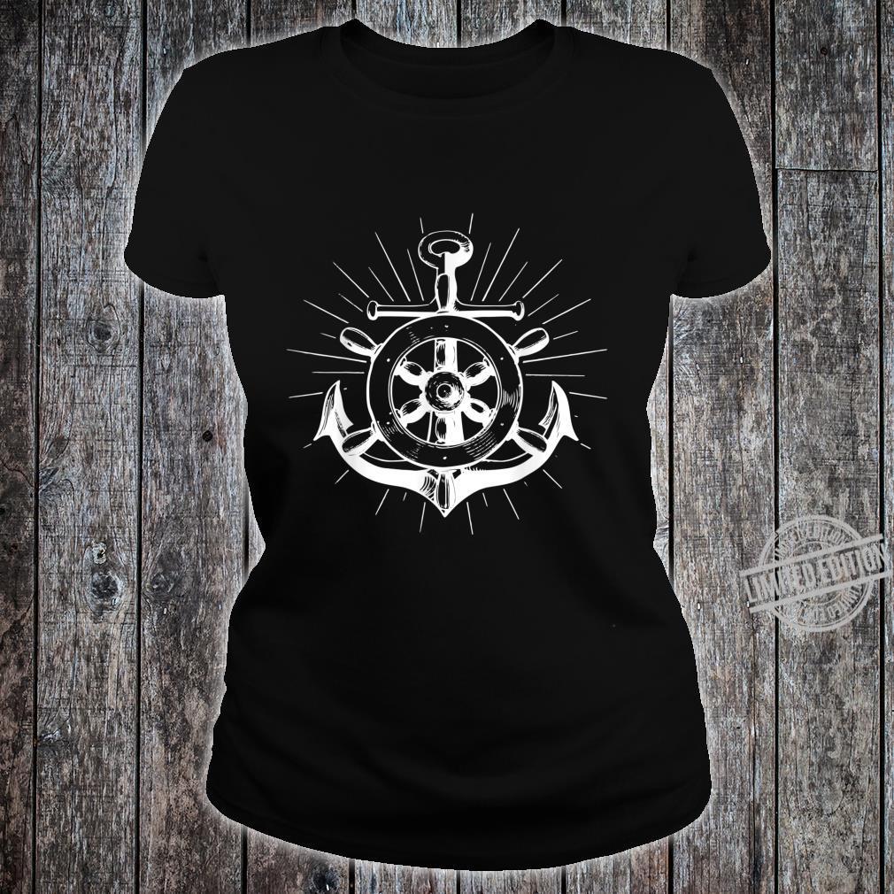 North anchor flat German saying shirt lighthouse seagull boat Shirt ladies tee