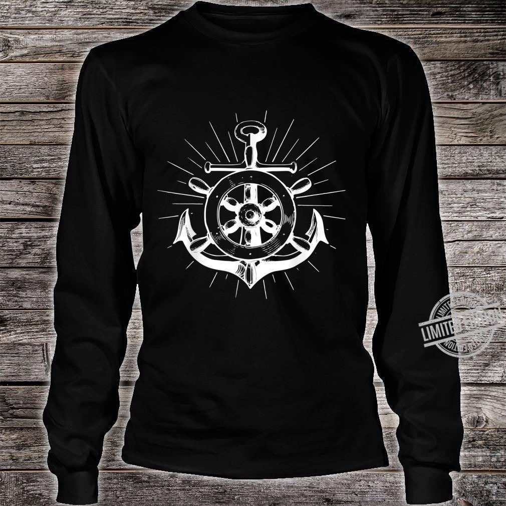 North anchor flat German saying shirt lighthouse seagull boat Shirt long sleeved