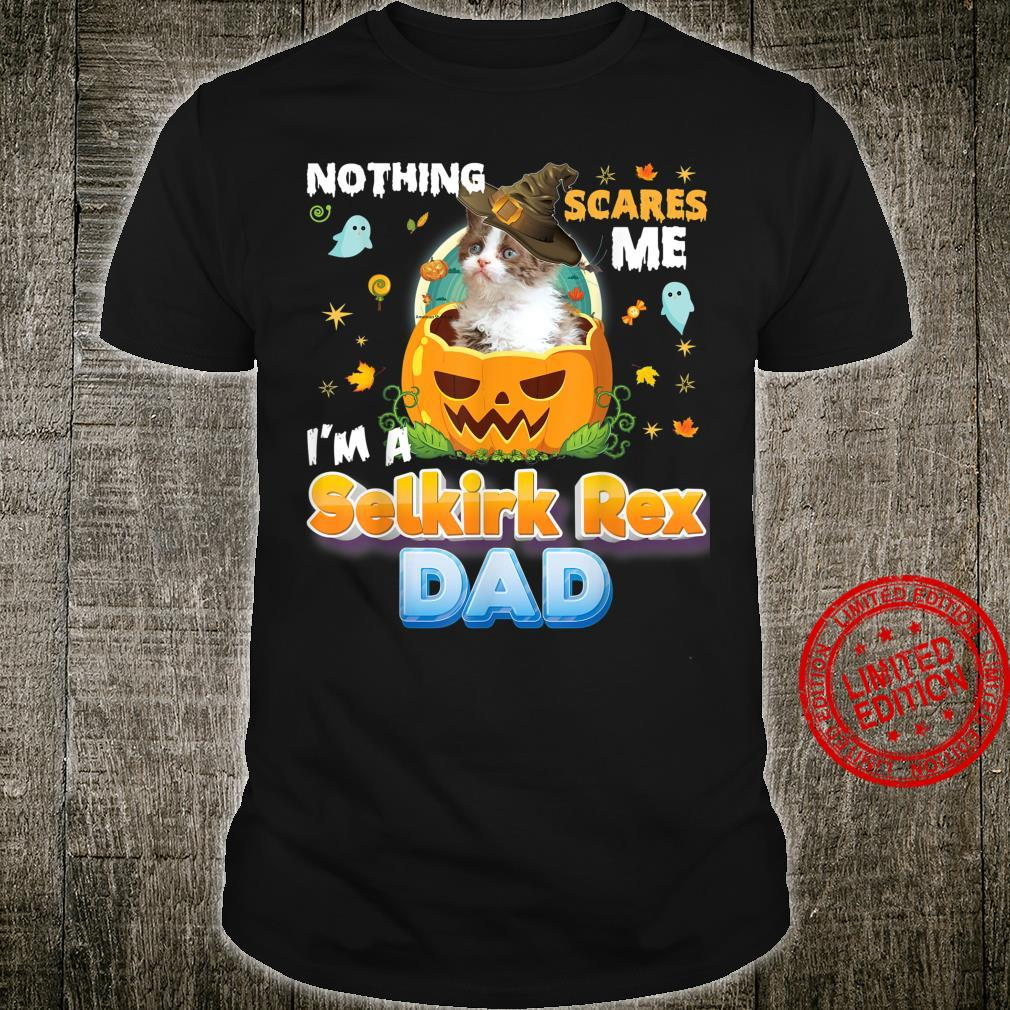 Nothing Scares Me I'm A Selkirk Rex Cat Dad Witch Hat Shirt
