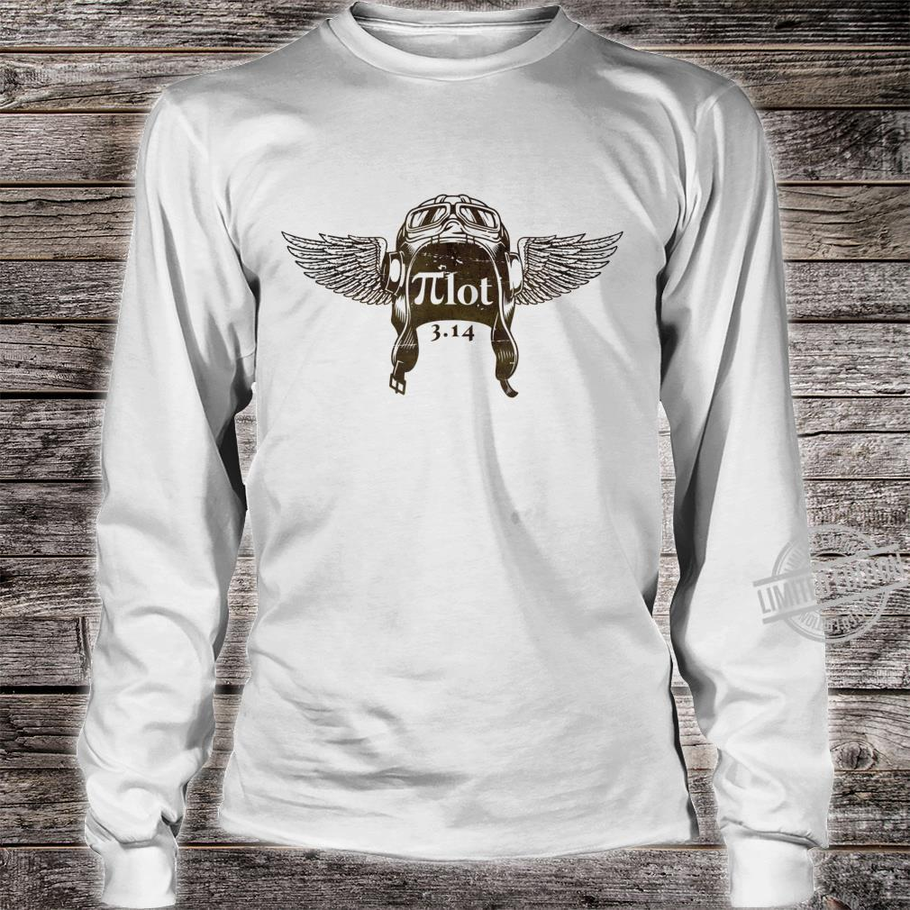 Pilot Aviators Math Geek Nerd Shirt long sleeved