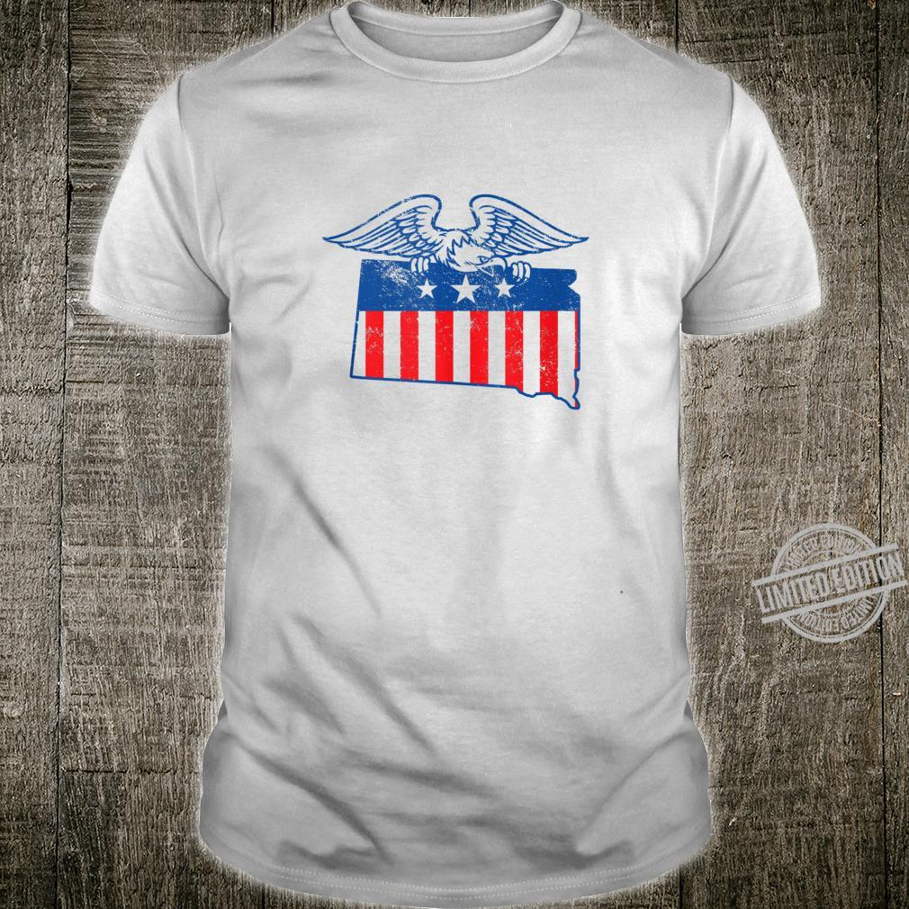 South Dakota Vintage Patriotic American Flag Shirt