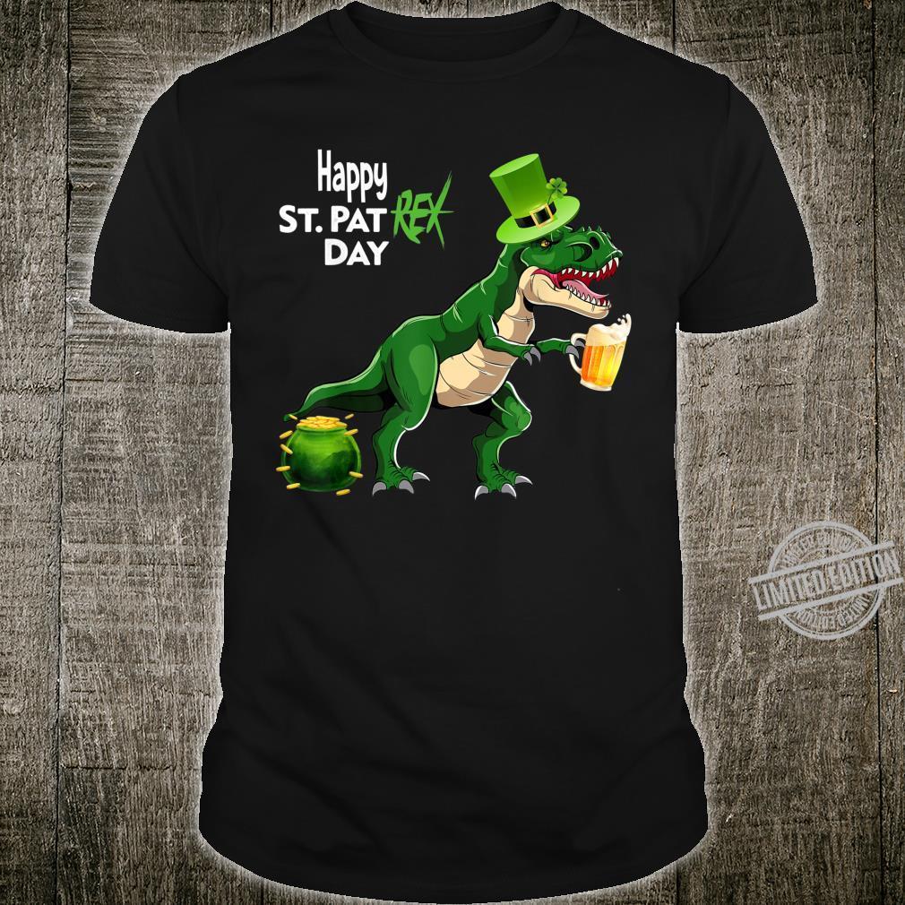 St Pat T Rex Day Saint Patrick's Paddys Dinosaur Boys Outfit Shirt