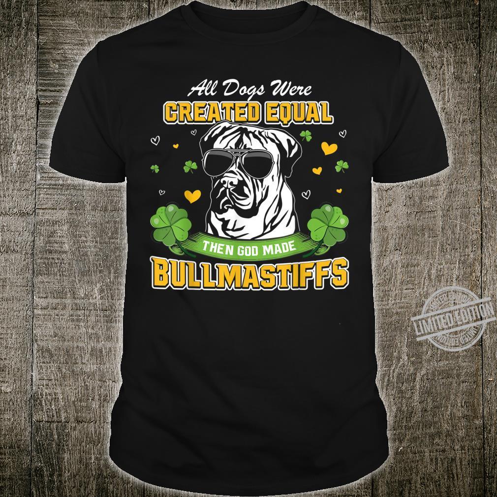 St Patricks Day Irish Shamrock Clover lucky Bullmastiffs Shirt