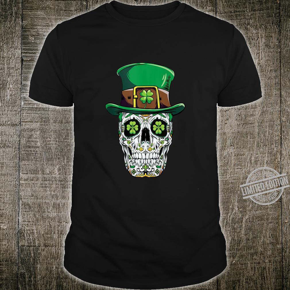 Sugar Skull St Patricks Day Of The Dead Leprechaun Shirt