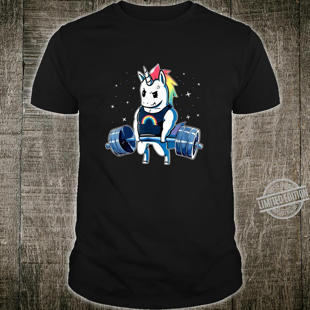 Unicorn Weightlifting Deadlift Fitness Gym Shirt