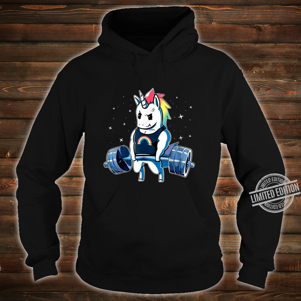 Unicorn Weightlifting Deadlift Fitness Gym Shirt hoodie