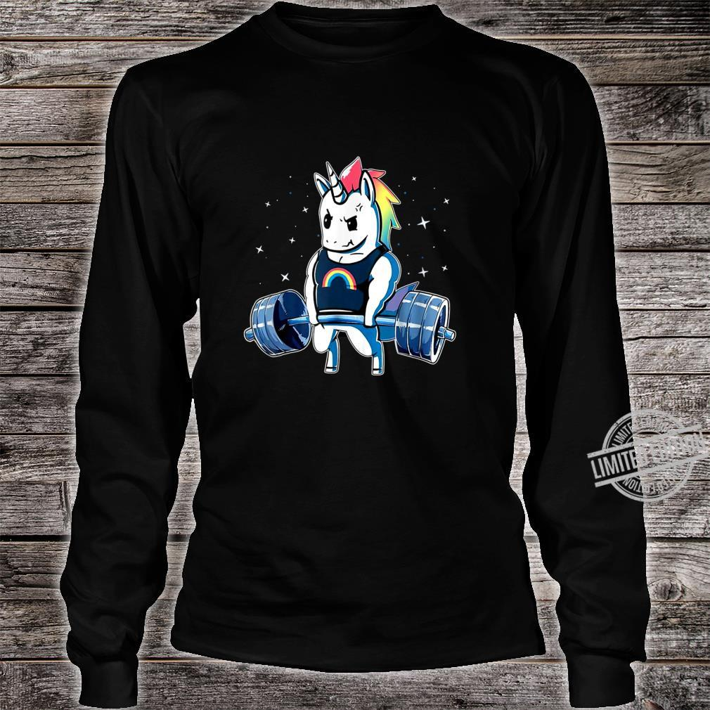 Unicorn Weightlifting Deadlift Fitness Gym Shirt long sleeved