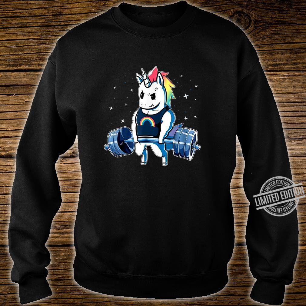 Unicorn Weightlifting Deadlift Fitness Gym Shirt sweater