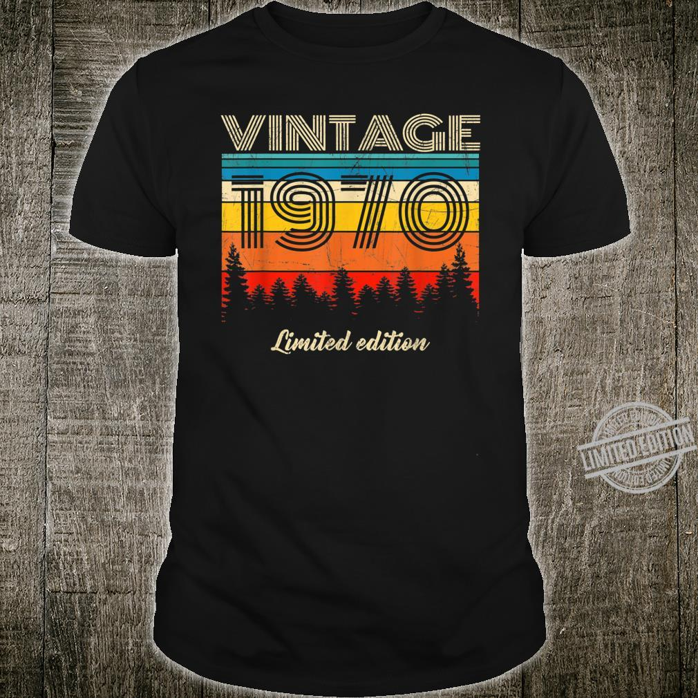 Vintage 1970 Made in 1970 50th birthday 50 years old Shirt