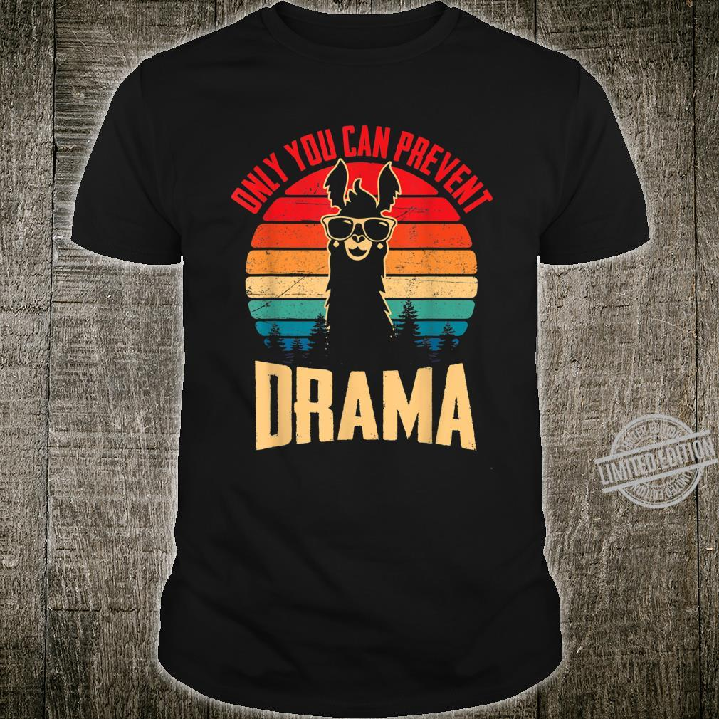 Vintage Only You Can Prevent Drama Llama Animal Cute Shirt