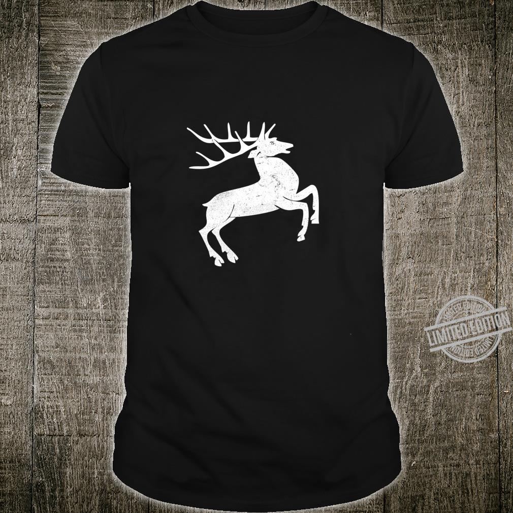 White deer vintage design Shirt