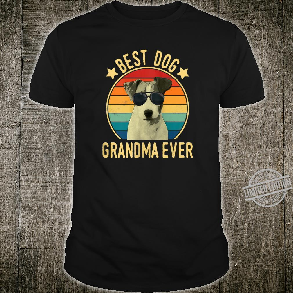 Womens Best Dog Grandma Ever Parson Russell Terrier Mother's Day Shirt
