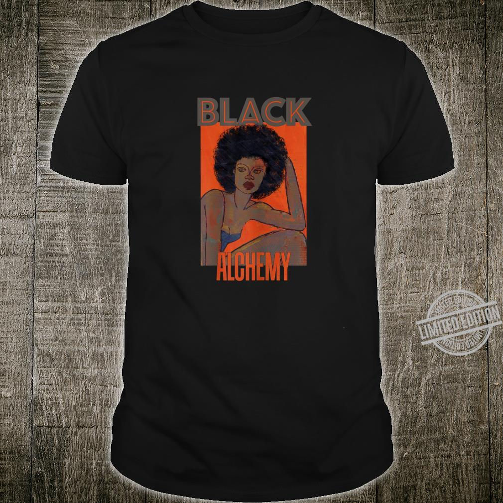 Womens Black Alchemy and Power, Afro National Hair Movement Shirt