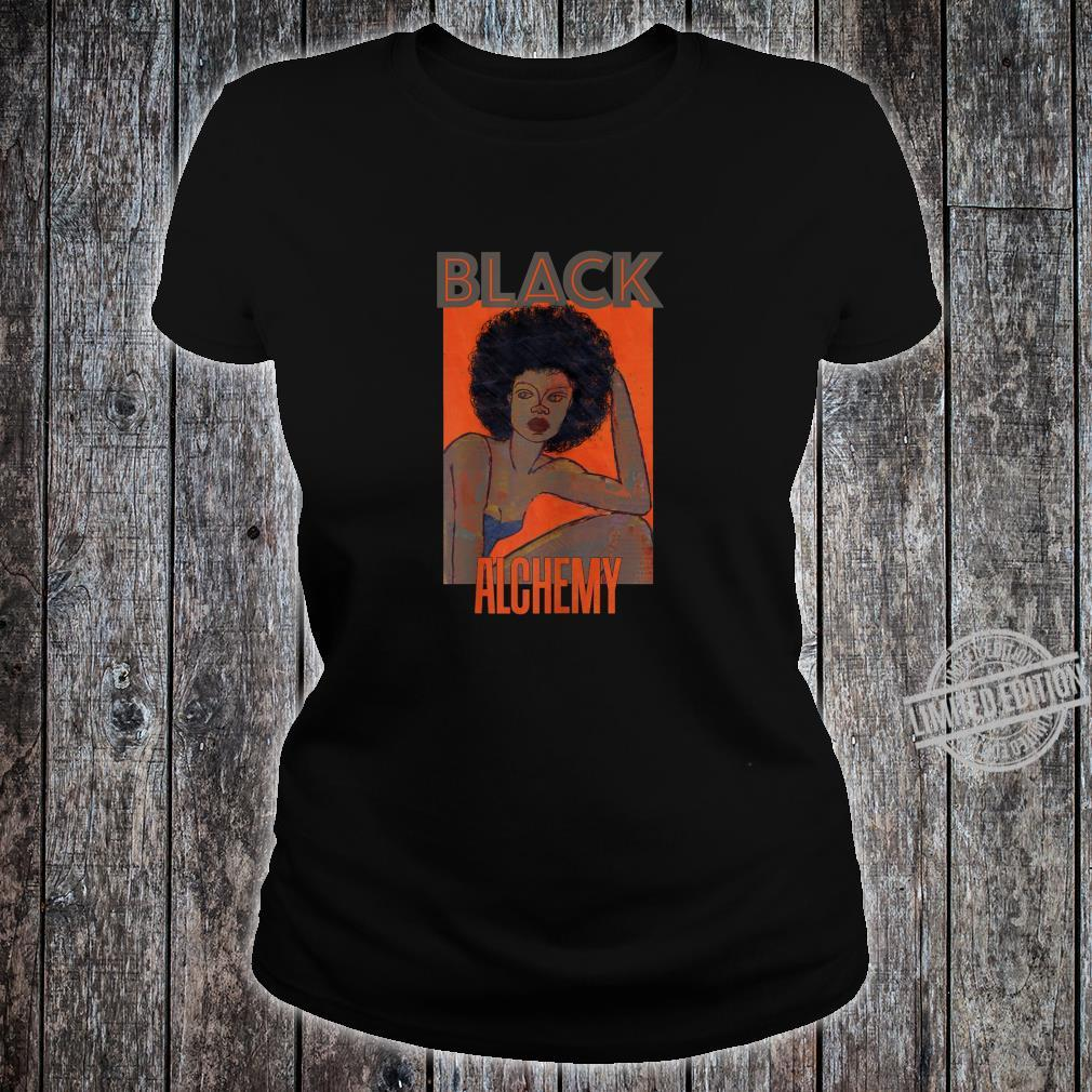 Womens Black Alchemy and Power, Afro National Hair Movement Shirt ladies tee