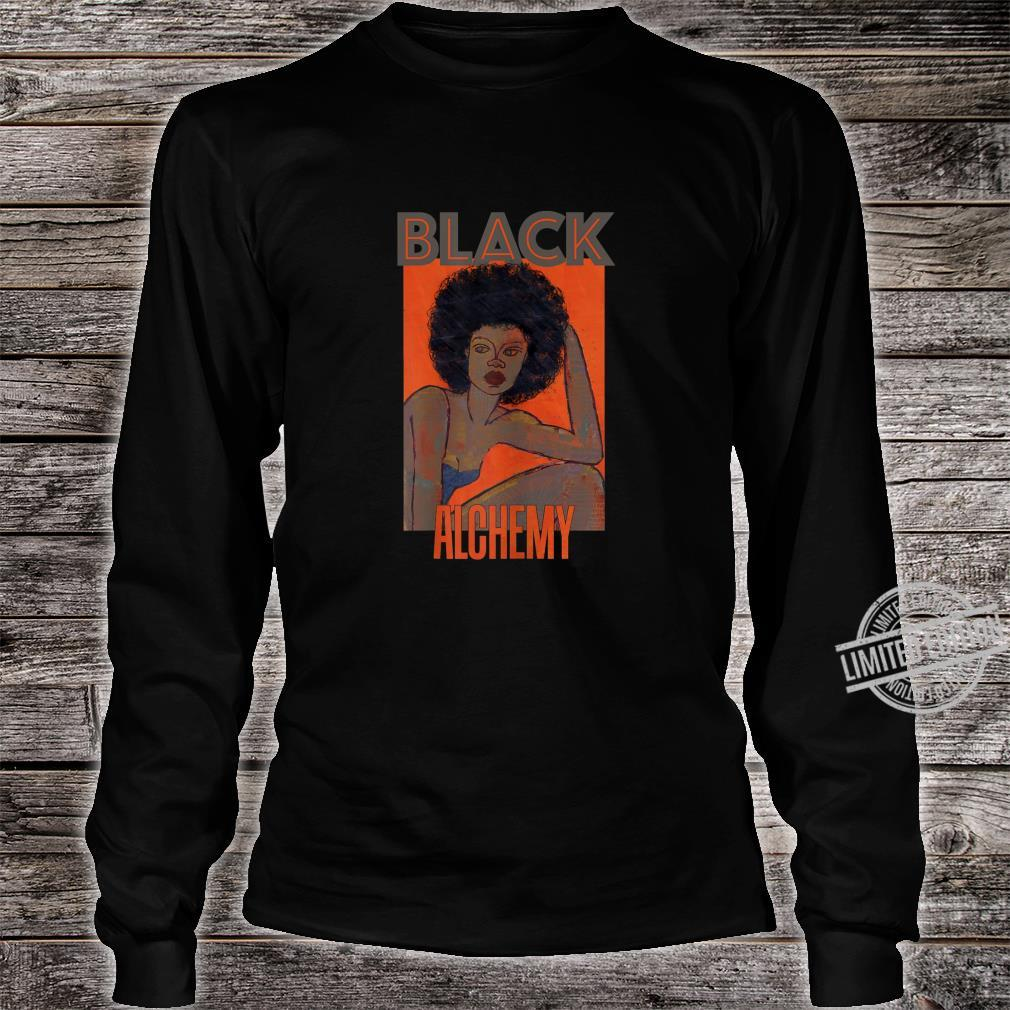 Womens Black Alchemy and Power, Afro National Hair Movement Shirt long sleeved
