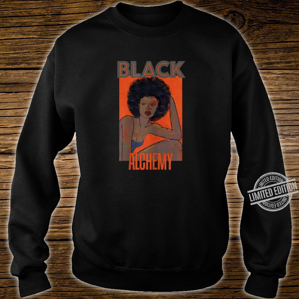 Womens Black Alchemy and Power, Afro National Hair Movement Shirt sweater
