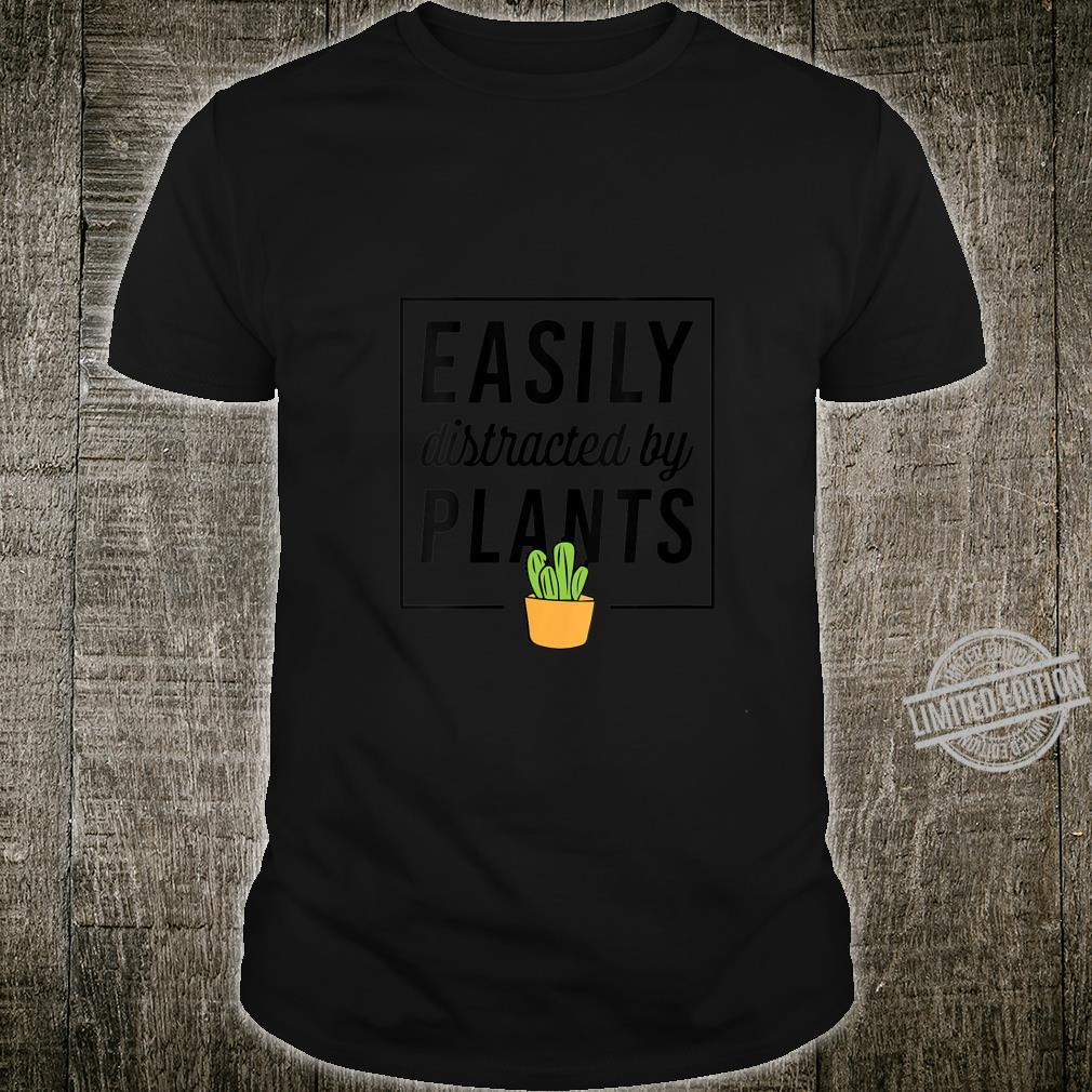 Womens Easily Distracted By Plants Plant Christmas Shirt