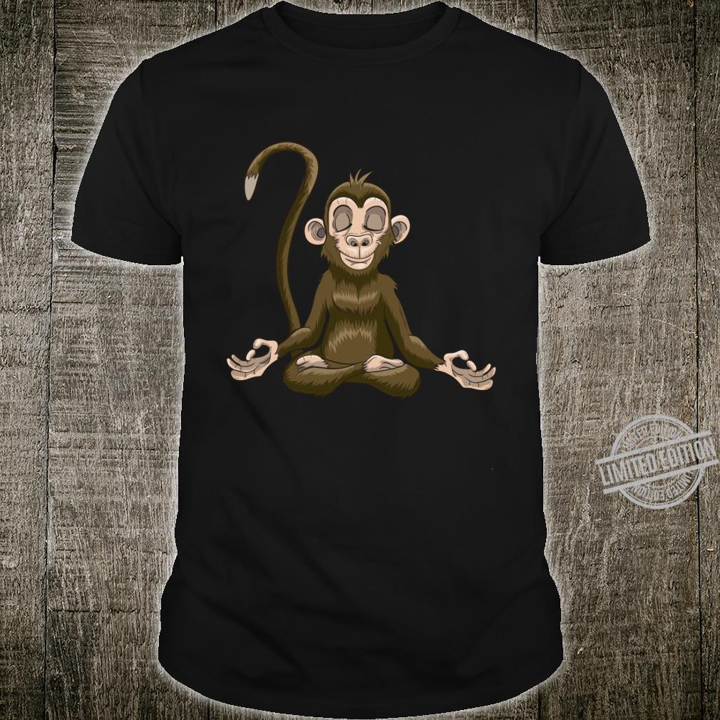 Zen Animal Yoga Relaxed Monkey Yogi Meditating Namaste Shirt
